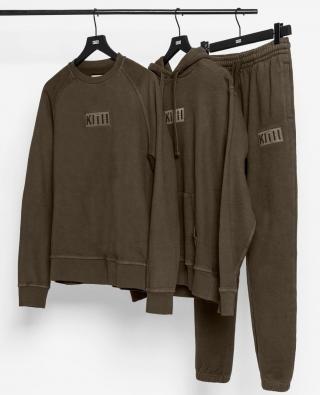 """KITH """"Classic Logo Tee Program"""" 第15弾に『オリーブ色』のボックスロゴフーディ、スウェット、トラックパンツが発売"""