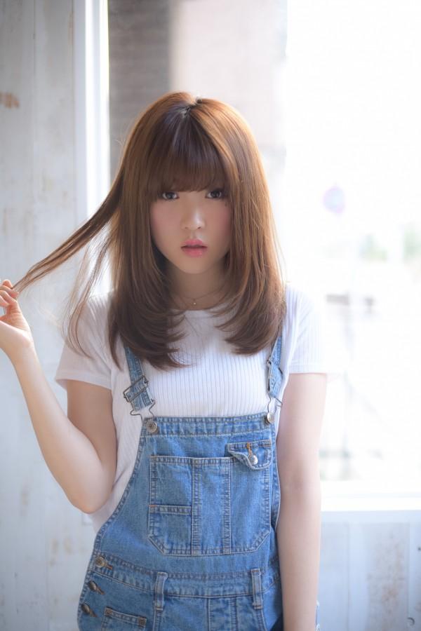 前髪の巻き方はゆるーくふんわり♪お手入れ簡単♪内巻きミディアム☆